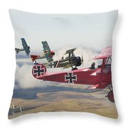 Circus Comes To Town Throw Pillow by Pat Speirs