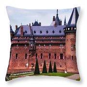 De Haar Castle 4. Utrecht. Netherlands Throw Pillow by Jenny Rainbow