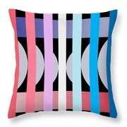 Fun Geometric  Throw Pillow by Mark Ashkenazi