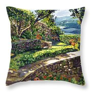 Garden Stairway Throw Pillow by David Lloyd Glover