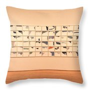 He Amazed At Art Throw Pillow by Eric Martin Sr