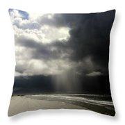 Hurricane Glimpse Throw Pillow by Karen Wiles