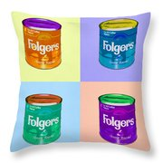 In Loving Memory Of Donny Who Loved Bowling  Set Of 4 Throw Pillow by Filippo B