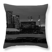 London Docklands Throw Pillow by Dawn OConnor