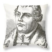 Martin Luther  Throw Pillow by English School