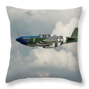 P51 Mustang Gallery - No1 Throw Pillow by Pat Speirs