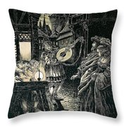 Poster Of The Mastersingers Of Nuremberg  Throw Pillow by Richard Wagner