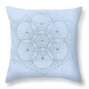 Quantum Snowflake Throw Pillow by Jason Padgett