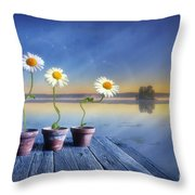 Summer Morning Magic Throw Pillow by Veikko Suikkanen