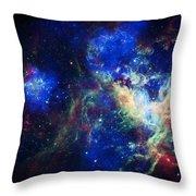 Tarantula Nebula 3 Throw Pillow by The  Vault - Jennifer Rondinelli Reilly