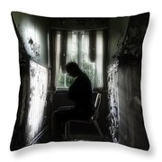 The Asylum Project - Waiting For The Miracle Throw Pillow by Erik Brede