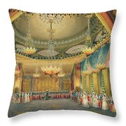 The Music Room Throw Pillow by English School
