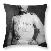 Theodore Roosevelt Throw Pillow by American School