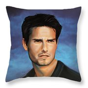 Tom Cruise Throw Pillow by Paul Meijering