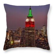 Top Of The Rock Throw Pillow by Susan Candelario