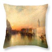 View Of Venice Throw Pillow by Thomas Moran