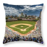 0234 Wrigley Field Throw Pillow by Steve Sturgill