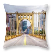 0305  Pittsburgh 10 Throw Pillow by Steve Sturgill