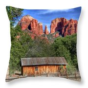 0682 Red Rock Crossing - Sedona Arizona Throw Pillow by Steve Sturgill