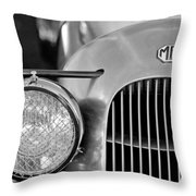 1934 Mg Pa Midget Supercharged Special Speedster Grille Throw Pillow by Jill Reger