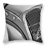 1937 Peugeot 402 Darl'mat Legere Special Sport Roadster Recreation Grille Emblem Throw Pillow by Jill Reger