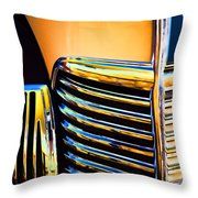 1939 Studebaker Champion Grille Throw Pillow by Carol Leigh