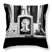 1948 Pontiac Streamliner Woodie Station Wagon Emblem Throw Pillow by Jill Reger