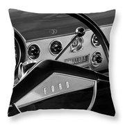 1951 Ford Crestliner Steering Wheel Throw Pillow by Jill Reger