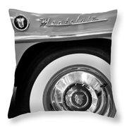 1951 Mercury Montclair Convertible Wheel Emblem Throw Pillow by Jill Reger