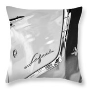 1955 Pontiac Safari Station Wagon Emblem Throw Pillow by Jill Reger