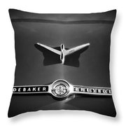 1955 Studebaker President Emblem Throw Pillow by Jill Reger