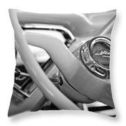 1957 Chevrolet Cameo Pickup Truck Steering Wheel Emblem Throw Pillow by Jill Reger