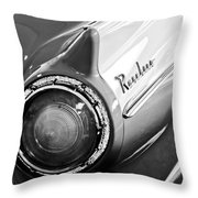 1957 Ford Ranchero Pickup Truck Taillight Throw Pillow by Jill Reger