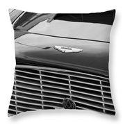 1960 Aston Martin Db4 Grille Emblem Throw Pillow by Jill Reger