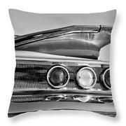 1960 Chevrolet Impala Resto Rod Taillight Throw Pillow by Jill Reger
