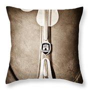 1960 Volkswagen Vw Hood Emblem Throw Pillow by Jill Reger