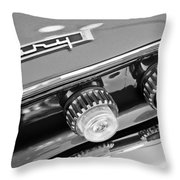 1962 Plymouth Fury Taillights And Emblem Throw Pillow by Jill Reger