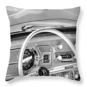 1962 Volkswagen Vw Beetle Cabriolet Steering Wheel Throw Pillow by Jill Reger