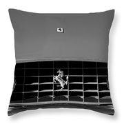 1963 Ferrari Grille Emblem Throw Pillow by Jill Reger