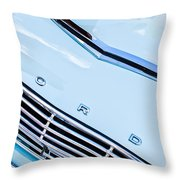 1963 Ford Falcon Futura Convertible Hood Emblem Throw Pillow by Jill Reger
