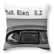 1965 Lotus Elan S2 Taillight Emblem Throw Pillow by Jill Reger