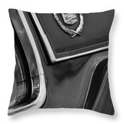 1969 Cadillac Eldorado Emblem Throw Pillow by Jill Reger
