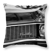 1969 Cadillac Eldorado Grille Throw Pillow by Jill Reger