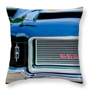 1972 Oldsmobile 442 Grille Emblem Throw Pillow by Jill Reger