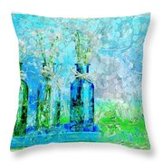 1-2-3 Bottles - S13ast Throw Pillow by Variance Collections