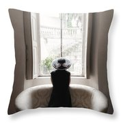 40s Lady Throw Pillow by Joana Kruse
