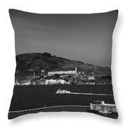 Alcatraz Island Throw Pillow by Mountain Dreams