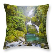 Amazing Waterfall Throw Pillow by Tim Hester