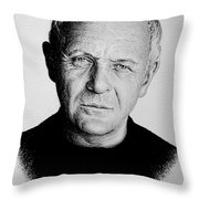 Anthony Hopkins Throw Pillow by Andrew Read