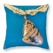 Aphrodite Mechanitis Necklace Throw Pillow by Augusta Stylianou
